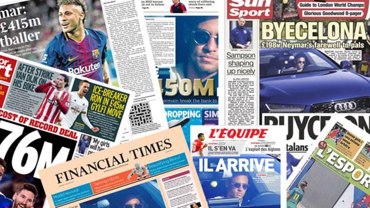 La prensa mundial alucina con las cifras de la 'Operación Neymar'