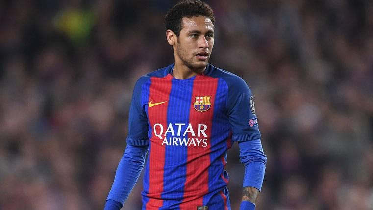 Neymar Jr, durante un partido con el FC Barcelona