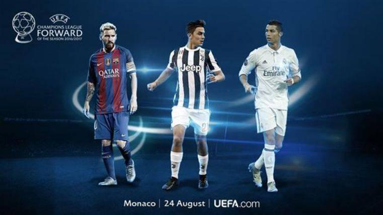 Messi, Cristiano y Dybala candidatos a mejor delantero