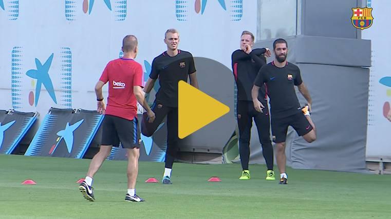 El Barça piensa en el Gamper con Gomes y Vermaelen tocados
