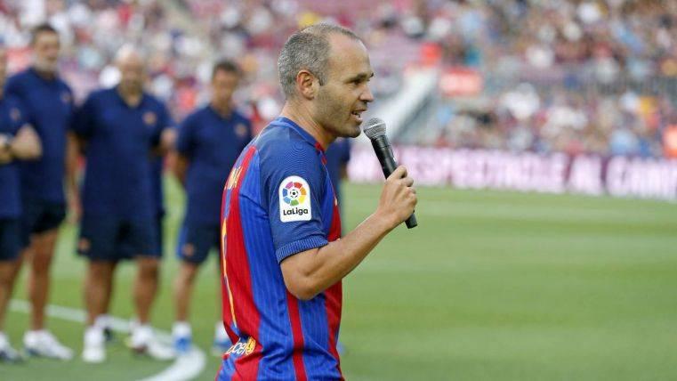Discursos de Valverde e Iniesta en la presentación