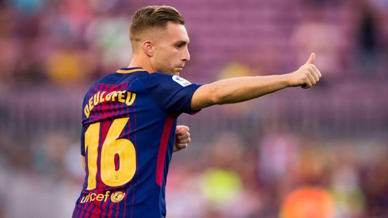 Gerard Deulofeu, agradeciendo un buen pase a Leo Messi