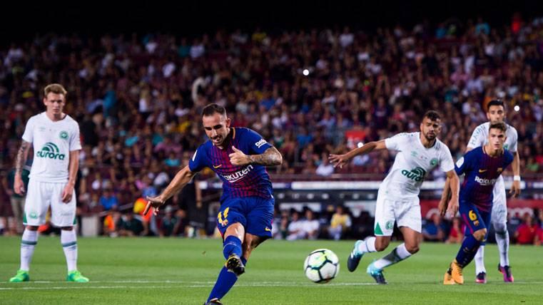 Semedo provocó un doble penalti y Paco Alcácer lo falló