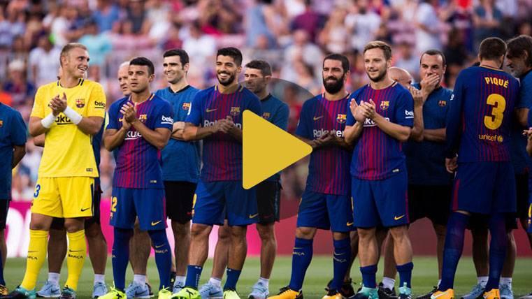 Así fue la presentación del FC Barcelona 2017-18 en el Gamper