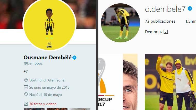 Dembélé aparta al Borussia Dortmund de sus redes sociales