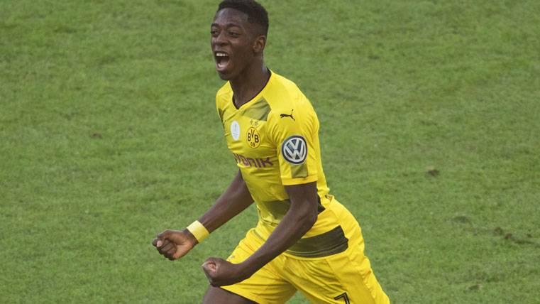 Ousmane Dembélé, durante un partido con el Borussia Dortmund
