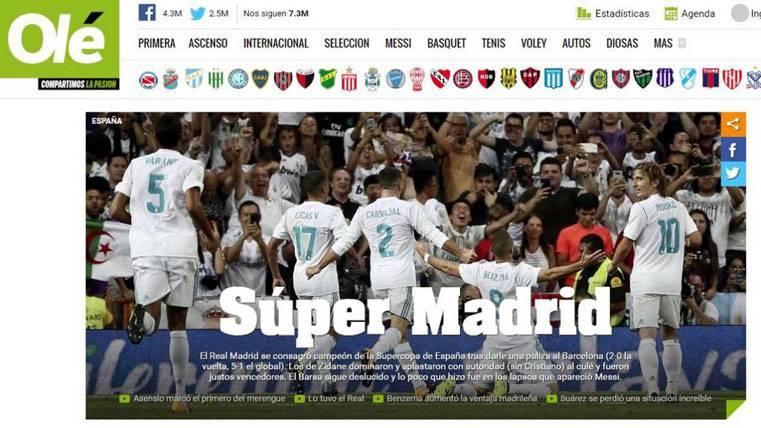 """La prensa mundial, tajante: """"El Real Madrid desnuda al Barça"""""""