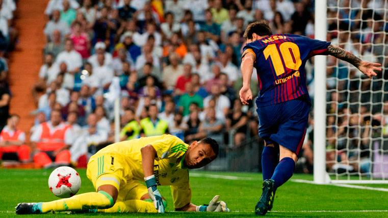 Y, pese al baño, el Barça pudo empatar en el Bernabéu
