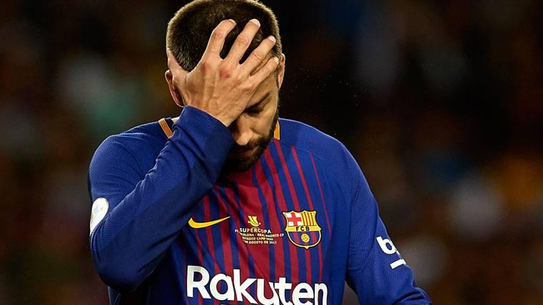 La desesperación de Gerard Piqué en el último Clásico