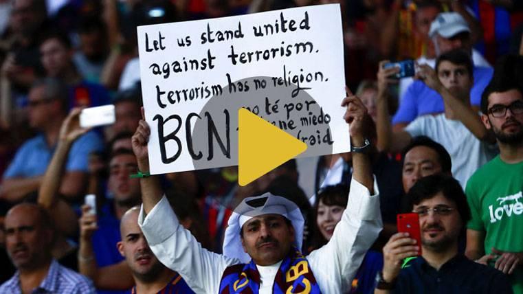 Tremendo vídeo del Barça en honor a las víctimas del atentado