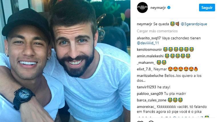 """Y Neymar también """"se queda"""" con Gerard Piqué"""