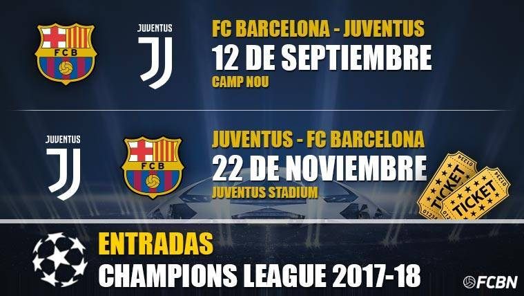 Entradas Juventus vs FC Barcelona - Champions League