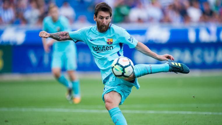 Leo Messi, cinco palos en diez días con el FC Barcelona