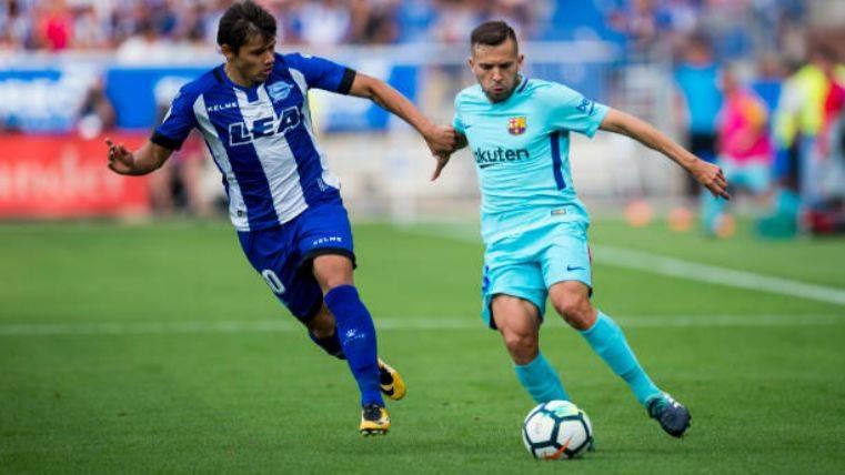 Jordi Alba ha recuperado sus mejores sensaciones