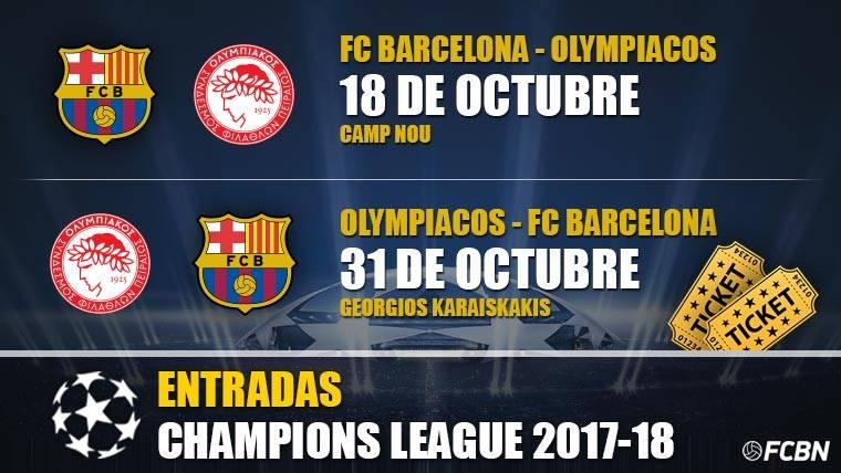 Entradas FC Barcelona vs Olympiacos - Champions League
