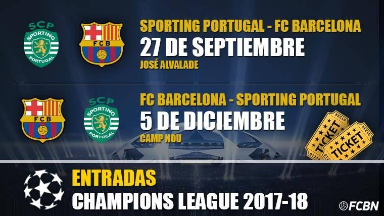 Entradas FC Barcelona vs Sporting Lisboa - Champions League