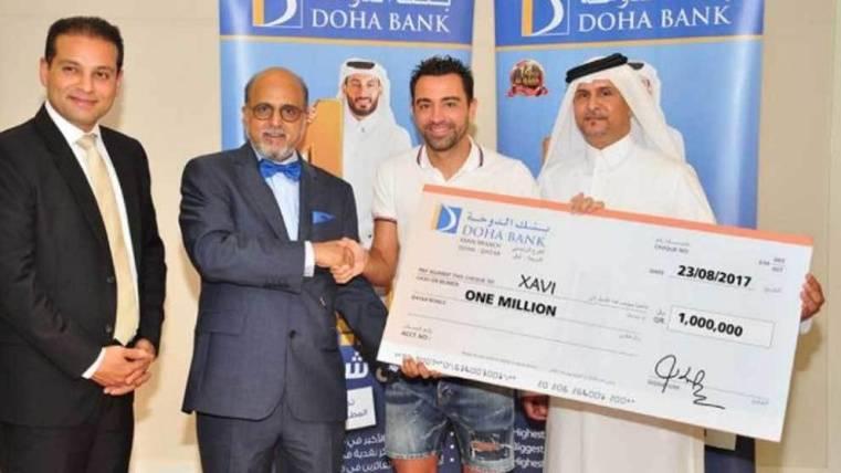 Xavi, un hombre con suerte: ¡le toca la lotería en Qatar!