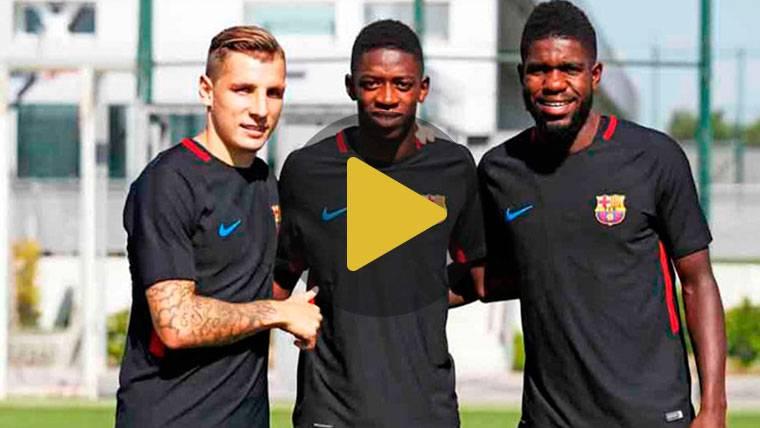 Dembélé, Umtiti y Digne ya entrenan juntos en el Barcelona