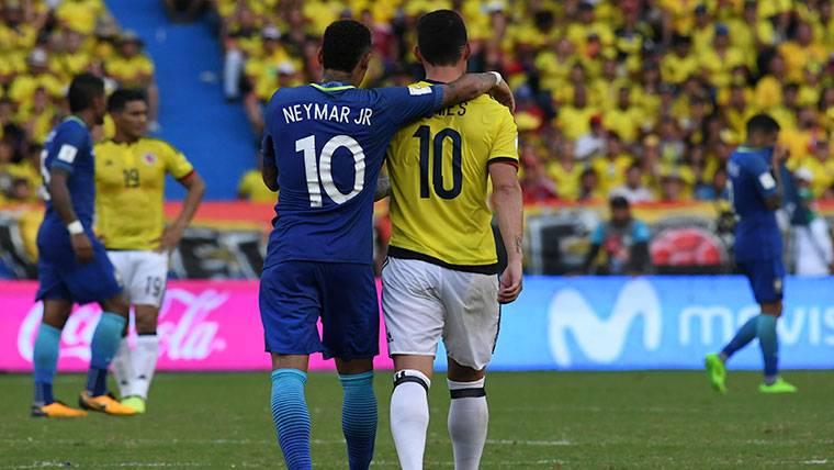 ¿Qué se dijeron James y Neymar tras el Colombia-Brasil?