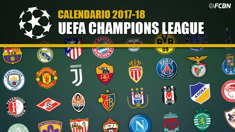 Calendario Champions League 2017-2018 - Sorteos y Partidos