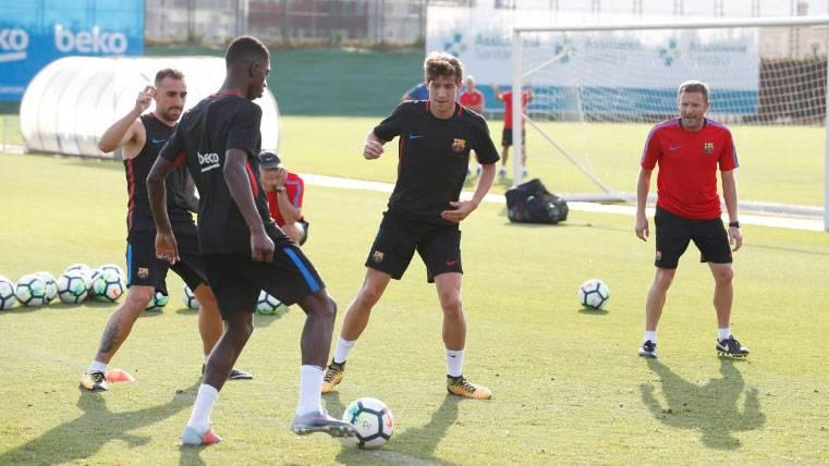 Sergi Roberto, ausencia destacada contra el Espanyol