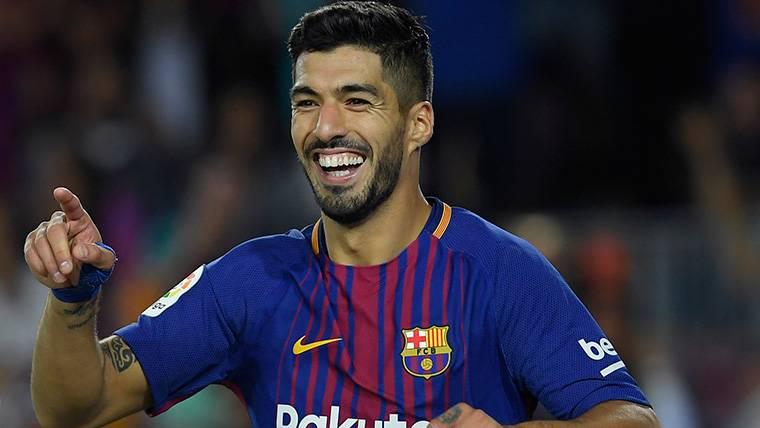 Luis Suárez vuelve a sonreír: Primer gol en el curso 2017-18
