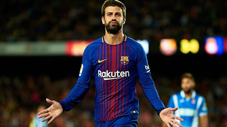 Gol y mensaje de Piqué en Twitter tras el Barça-Espanyol