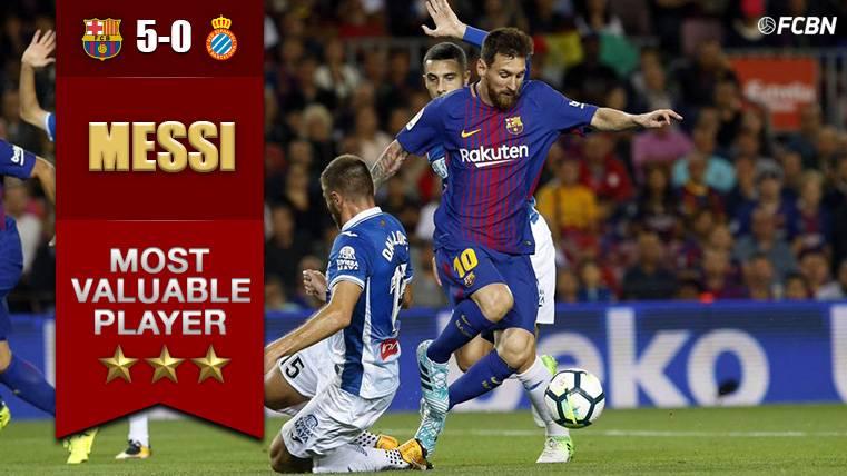 Leo Messi, el MVP del partido ante el RCD Espanyol