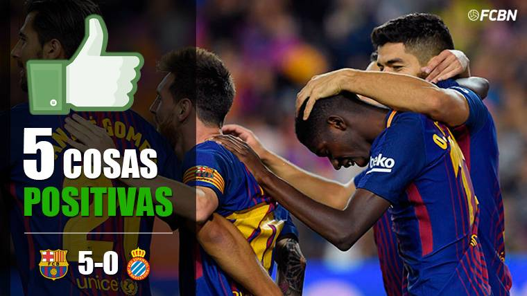 Las cinco cosas positivas del FC Barcelona-Espanyol