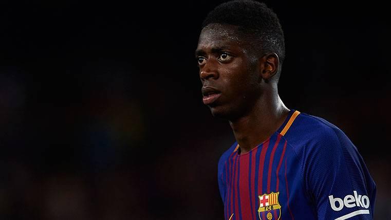Ousmane Dembélé en su debut oficial con el FC Barcelona