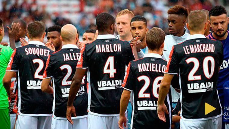 Marlon, partidazo con el Niza, victoria, ¡y falta al árbitro!