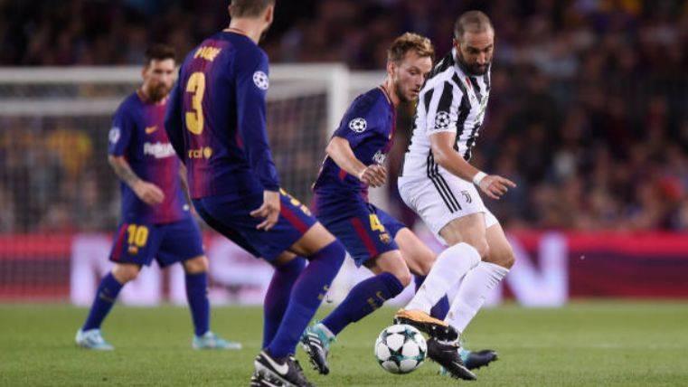 Rakitic durante una acción ante la Juventus