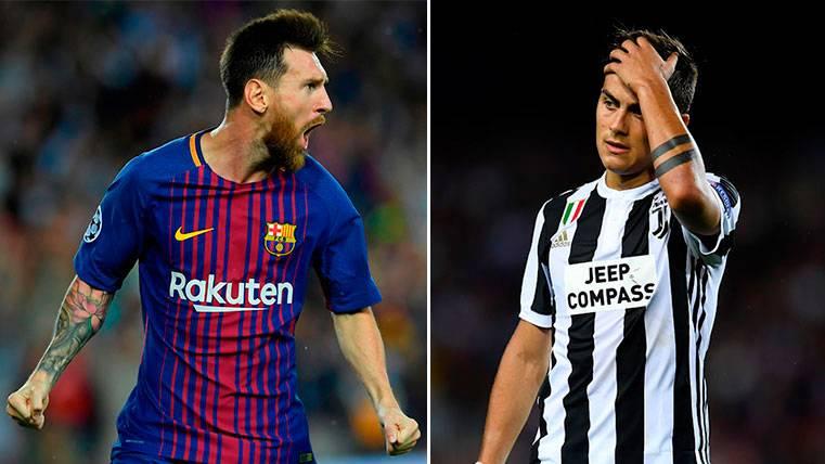 Leo Messi y Paulo Dybala, duelo desnivelado en la Champions