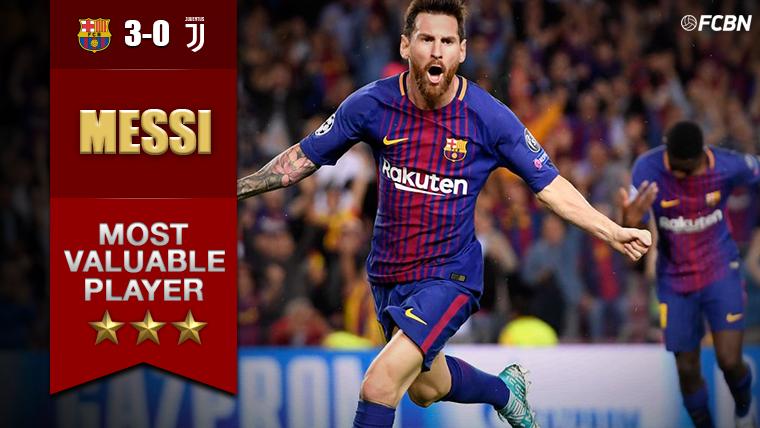Messi MVP ante la Juventus