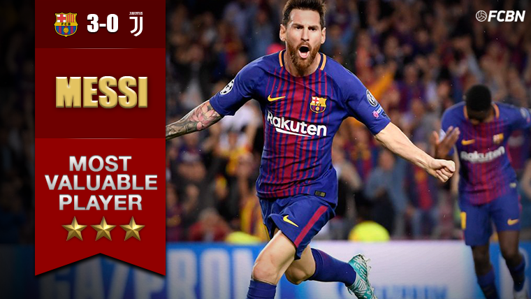 Leo Messi, MVP indiscutible del Barcelona-Juventus