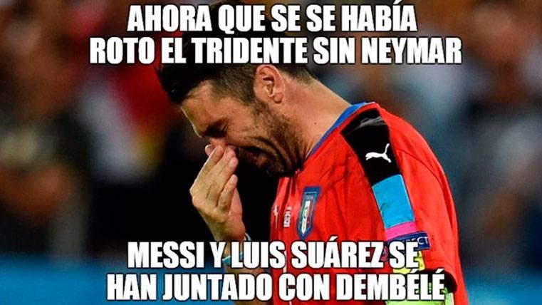Gianluigi Buffon, víctima de Leo Messi y de los 'memes'