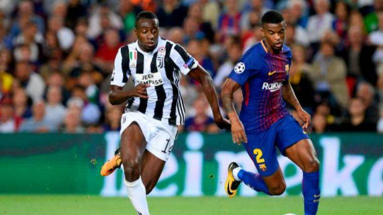 Semedo durante un partido ante la Juventus