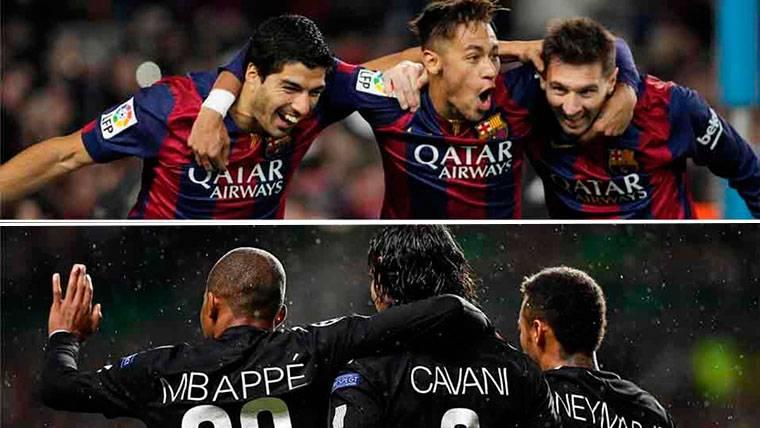La 'MCN', celebrando un gol de la misma manera que la 'MSN'
