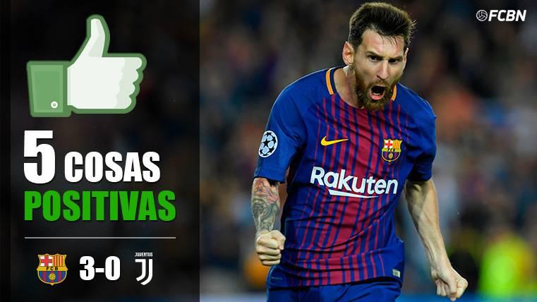 Leo Messi celebra uno de los tantos del FC Barcelona