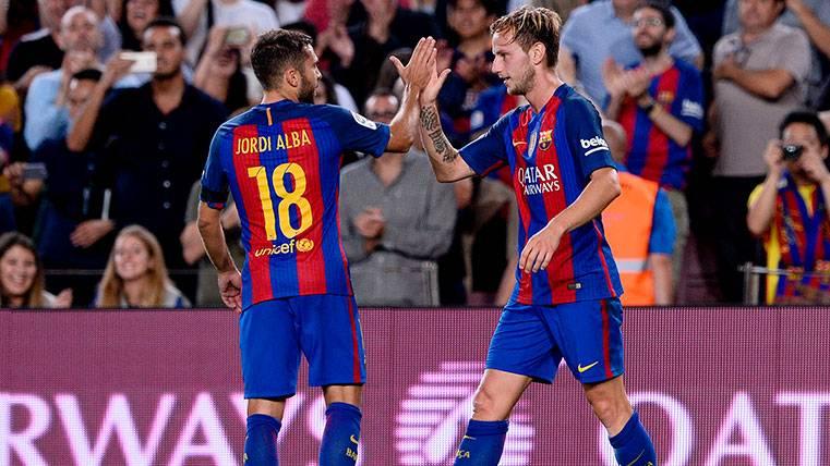 Jordi Alba y Rakitic hacen balance del arranque del Barça