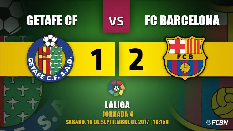 Paulinho salva a un FC Barcelona muy humano en Getafe