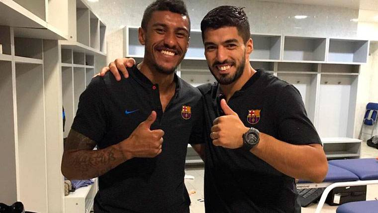 Mensaje de Suárez para felicitar a Paulinho por su gol ganador