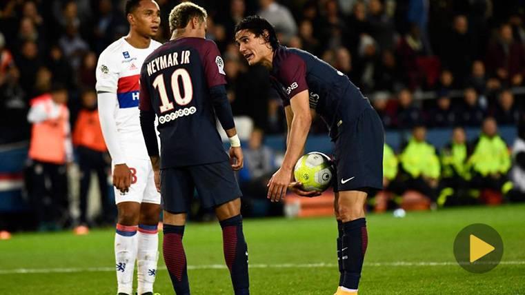 El cabreo de Neymar Jr con Cavani por un penalti
