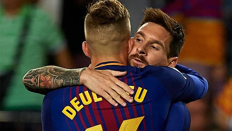 Gerard Deulofeu, también en sintonía con Leo Messi