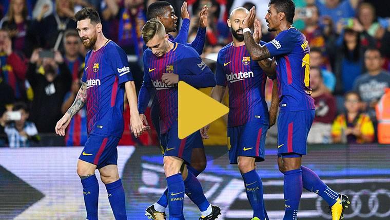 ¡Golazo de falta de Messi para llegar a los 100 en Europa!