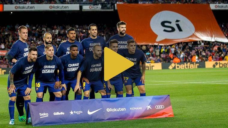 """El mensaje de los jugadores del Barça a Dembélé: """"Coraje"""""""