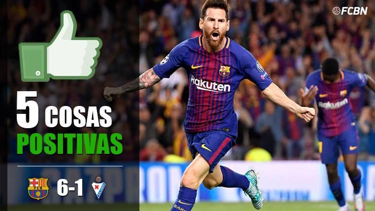 Las cinco cosas positivas del FC Barcelona 6-1 Eibar