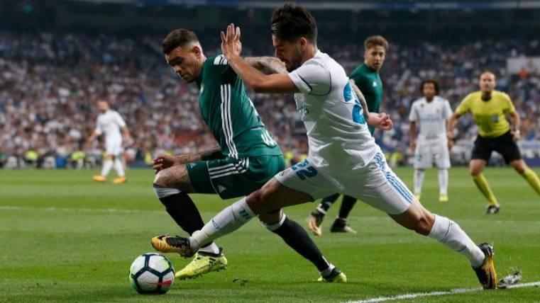 El Real Madrid pierde en casa ante el Betis 0-1