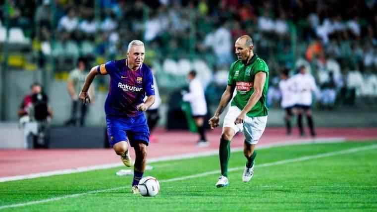 El Barcelona Legends pierde ante los amigos de Stoichkov