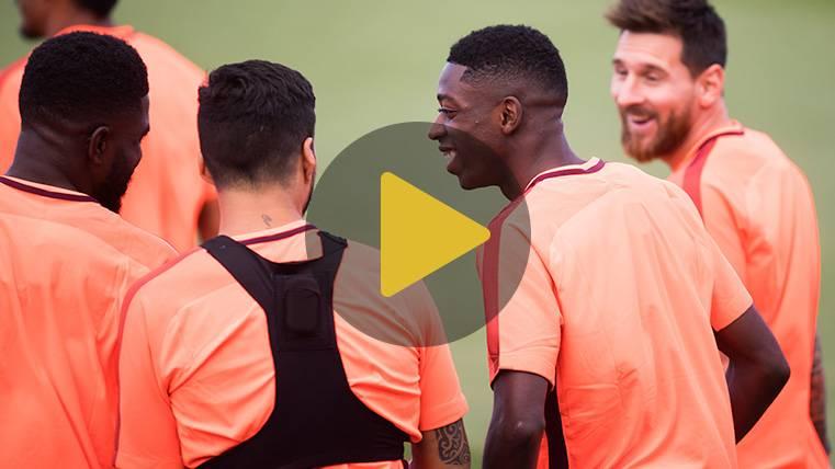 Ousmane Dembélé ya está en Barcelona tras su operación